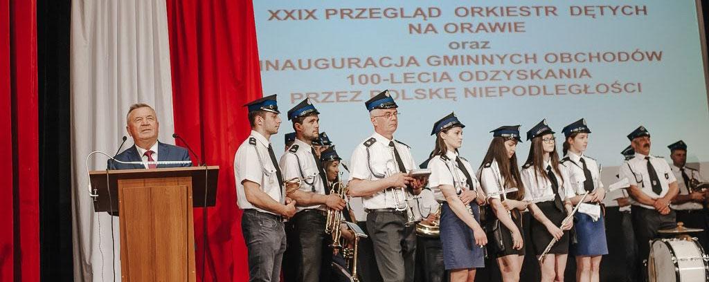 XXIX Przegląd Orkiestr Dętych na Orawie. Inauguracja Gminnych Obchodów 100-lecia Odzyskania przez Polskę Niepodległości