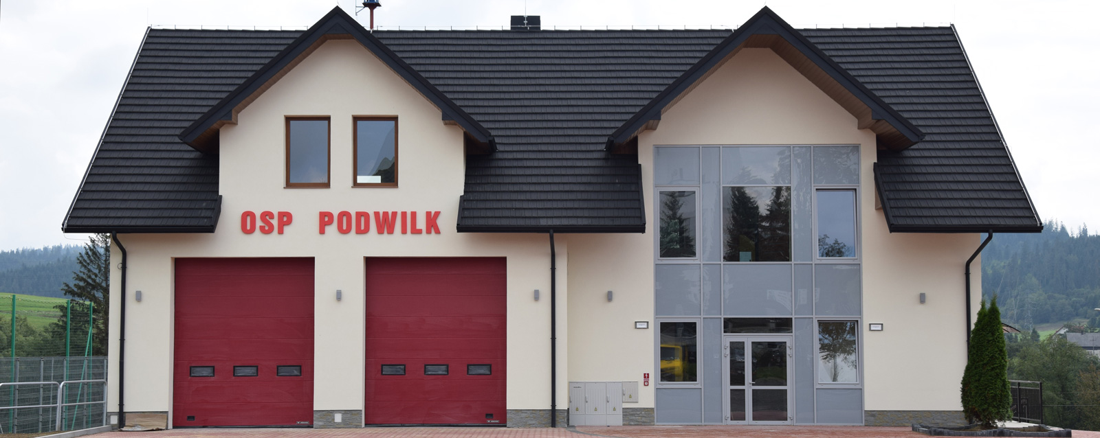 Nowy budynek remizy Ochotniczej Straży Pożarnej w Podwilku